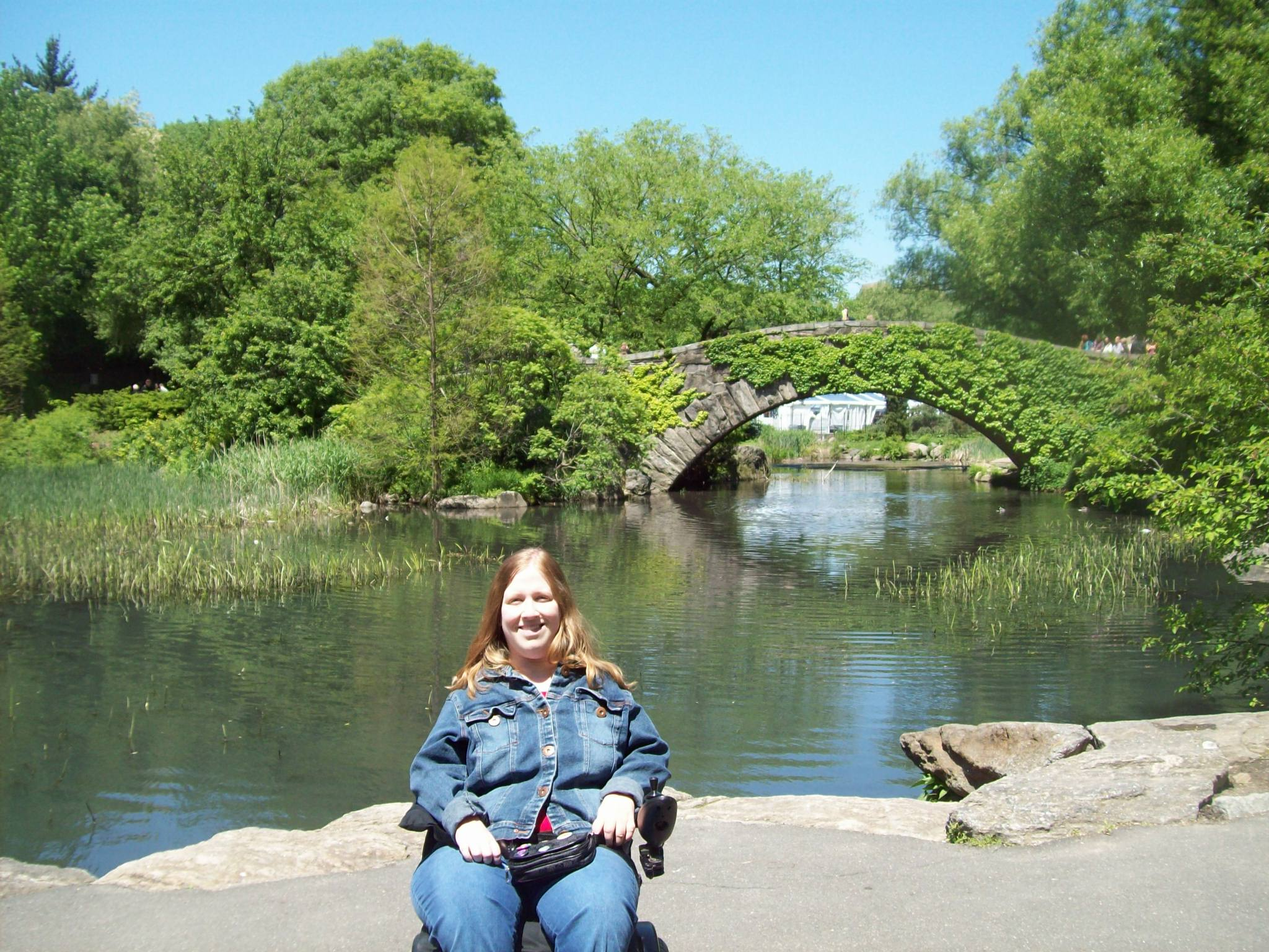 Karin in Central Park, 2010.