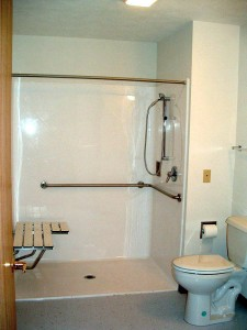 """A roll-in shower. If every """"accessible"""" room had one of these, I'd be a happy traveler!"""