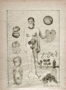 Miscarriage, a heartbreaking drawing featured in the exhibition
