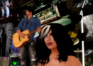 Brandy and Seth at their Club Graffiti in Second Life.