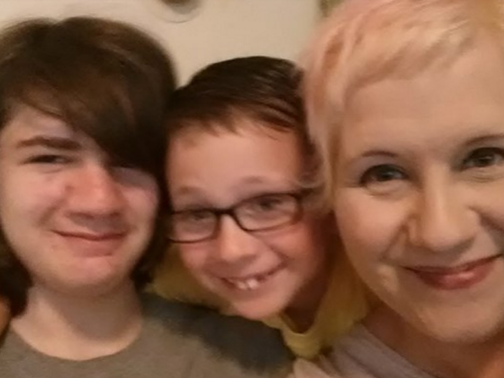 Brandy with her sons Quinn and Donovan.