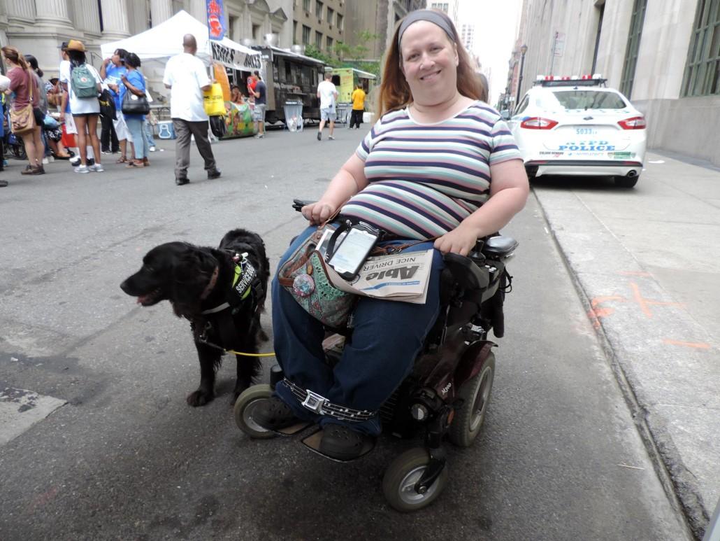 Karin and Aria at Disability Pride New York City.