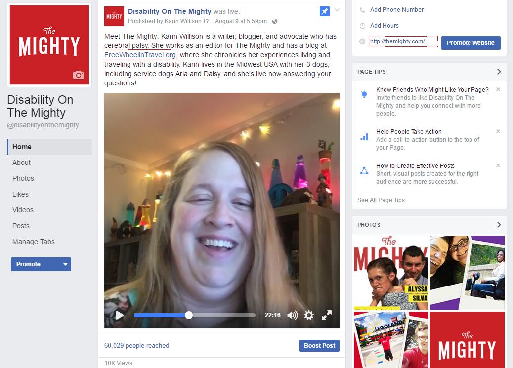 Karin Willison on Facebook Live.