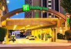 Nighttime photo of the Holiday Inn, Burbank, CA.