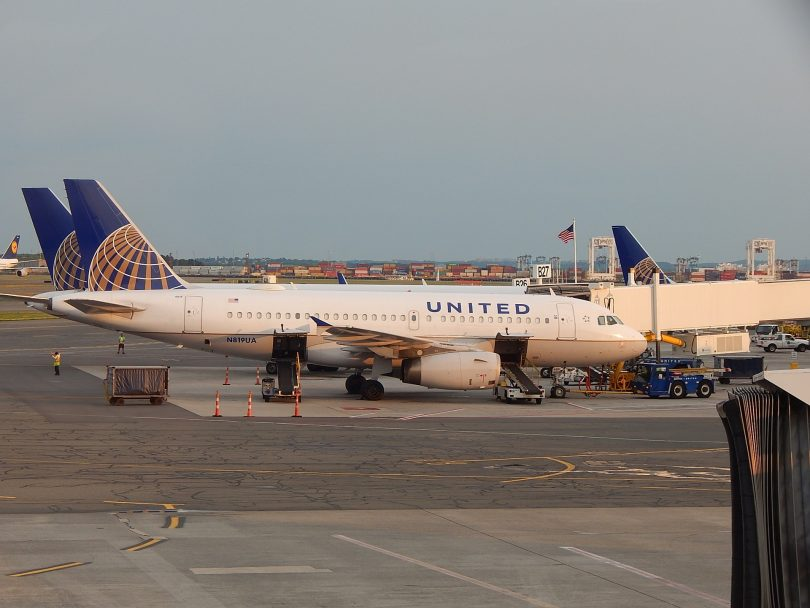United Airlines airplane on the tarmac.