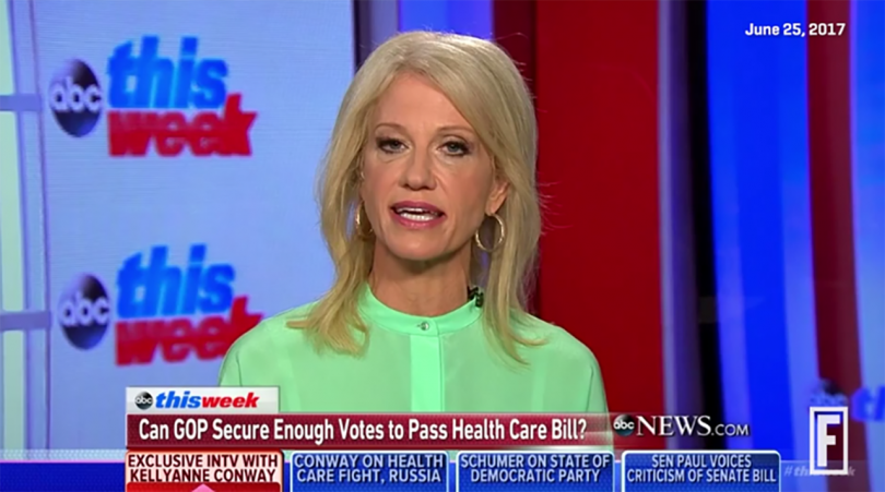 Kellyanne Conway making remarks about Medicaid on ABC This Week.