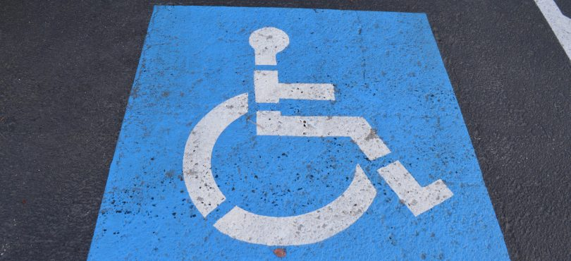 Disability parking space.