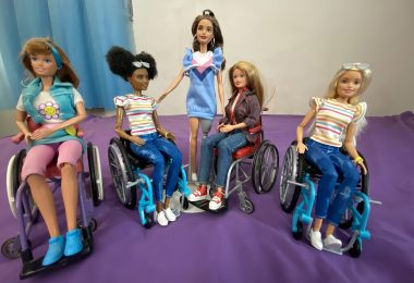 Wheelchair Barbie and Becky, dolls with disabilities review and comparison.